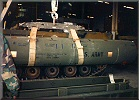 1/12FA Missile Maintenance: Main missile assemblage, nuclear trainer with gold markings